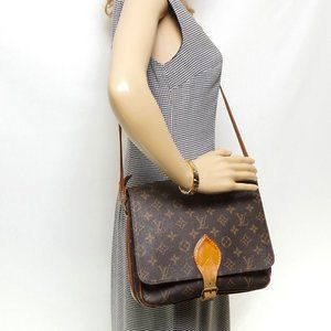Auth Louis Vuitton Cartouchiere Gm #6452L25